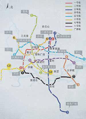 2010年,广州规划建成10条轨道线路-广州地铁二号线6月28日开通 头