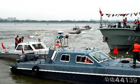组图:广东海警举行誓师大会严厉打击走私犯罪