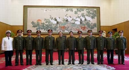 江泽民胡锦涛出席中央军委扩大会议(组图)