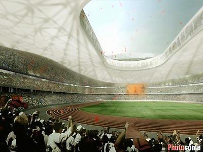 北京奥组委官员称鸟巢工程本月底或下月初复工