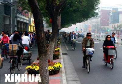 组图:北京街头行人与非机动车违章大扫描