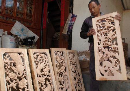 图文:制作木雕致富(1)