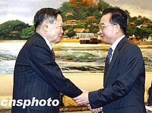 图文:2003年温家宝总理会见杨振宁