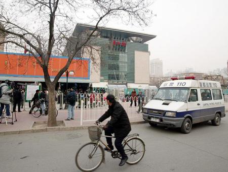 图文:北京秀水市场街头秩序井然