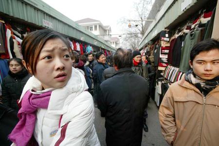 图文:北京秀水市场路人如织