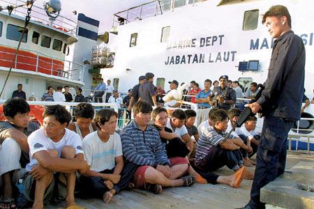 马来西亚扣留19名大陆水手称涉嫌劫持台湾渔船