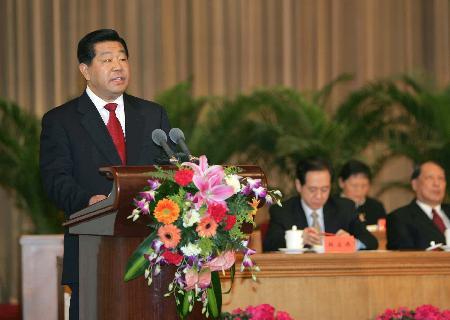 图文:贾庆林出席江泽民讲话纪念会并发表讲话