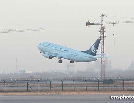 国航航班上午8时从北京首都机场起飞前往台北