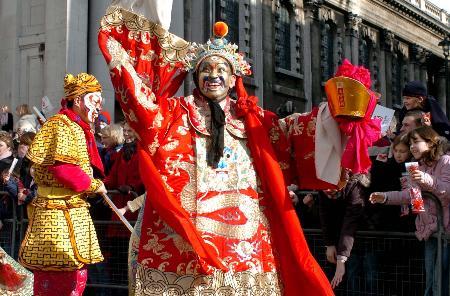 组图:伦敦举行大型庆祝中国春节的巡游活动图片