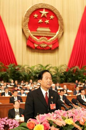 图文:贾春旺作最高人民检察院工作报告