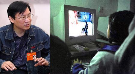 图文:叶江川委员称学校要让学生远离网络游戏