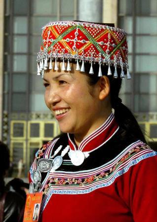 图文:云南少数民族代表卢艳芬发言