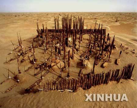 """组图:罗布沙漠小河墓地""""千棺坟""""发掘完成"""