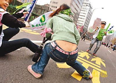 台湾3-26游行人群出现日本人身影(组图)