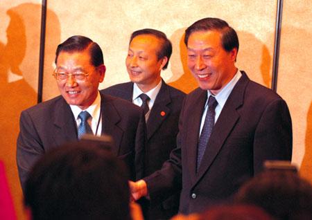 图文:南京市委书记罗志军会见江丙坤一行