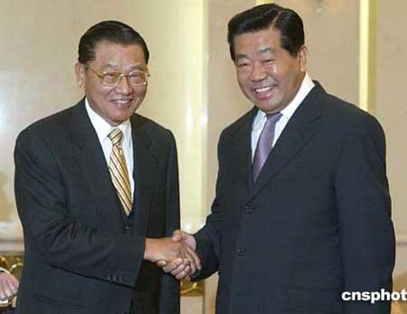 贾庆林会见中国国民党副主席江丙坤
