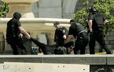 美警方逮捕中国男子疑其用炸弹袭击国会山(图)