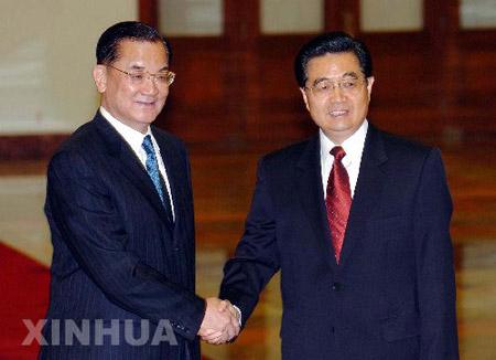 胡锦涛:要向世界表明两岸中国人有能力解决矛盾
