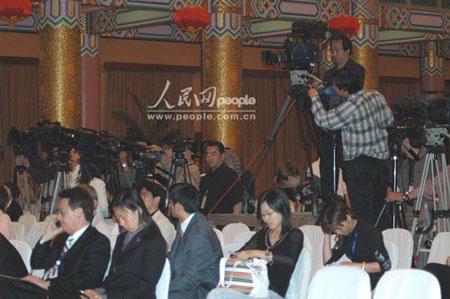 图文:连战北京记者会现场