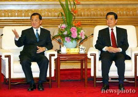 胡锦涛与连战会谈新闻公报(全文)