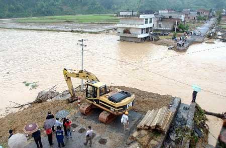 湖南山洪暴发造成36人死亡45人失踪(组图)