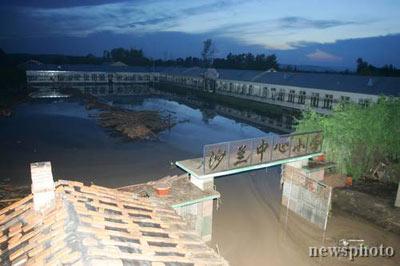 黑龙江宁安沙兰镇发生洪灾