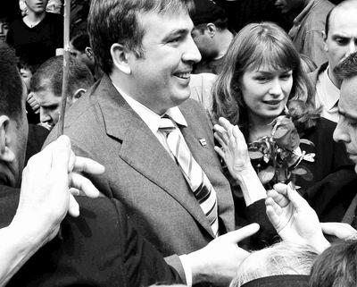 格鲁吉亚总统与秘书传绯闻妻子一怒回国(组图)