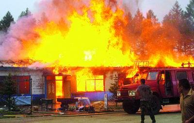 着火房子画画大全