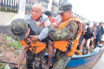 海棠袭击东南沿海追踪:浙江千余被困群众获救
