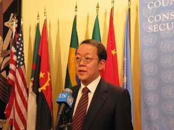 王光亚:中美将共同阻止四国联盟争常提案(图)