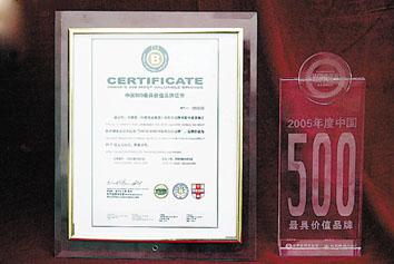"""""""中国500最具价值品牌""""揭晓(图)"""