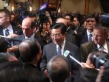 胡锦涛会见华人华侨代表谈当前的台海局势(图)