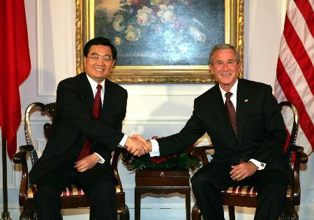 胡锦涛欢迎布什在11月出席APEC会议后访华