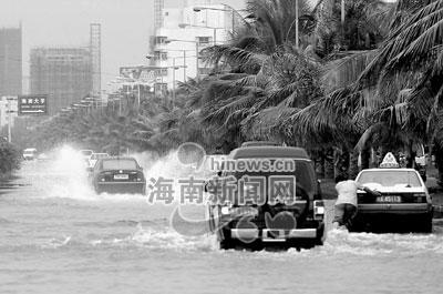 组图:在海南感受台风达维