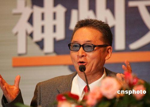 组图:台湾作家李敖在上海举行记者会