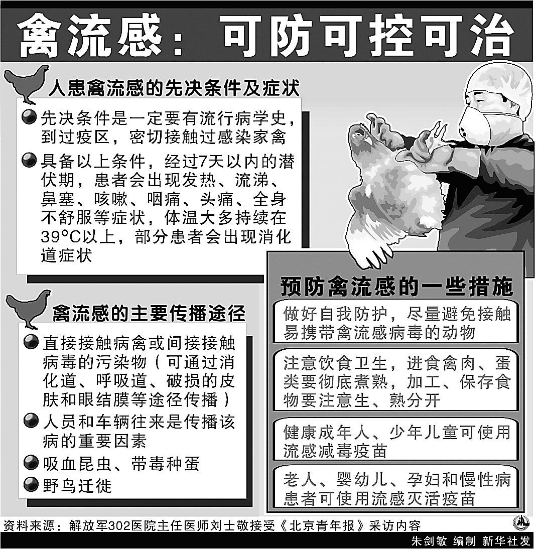 中国禽流感疫情在控制之中 附图