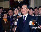 图文:温家宝总理看望法国华侨华人