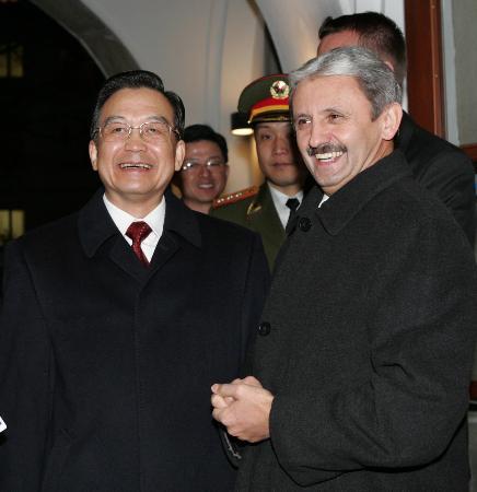 温家宝与斯洛伐克总理会谈愿从3方面加强合作
