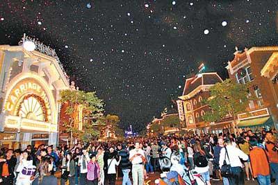 香港迪斯尼乐园受拒客事件影响游客减少(图)