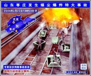 枣庄煤尘爆炸(图)