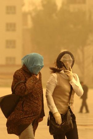 我国华北东北出现扬沙天气内蒙古遭遇沙尘暴