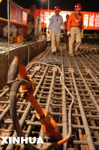 李成文通知混凝土拌和系统可以拌制混凝土