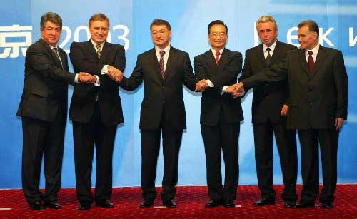 资料图片:上海合作组织历次元首(总理)会议