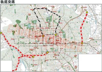 既有铁路利用乘市郊城铁从密云到城区不超1小时; 北京2020版地铁规划