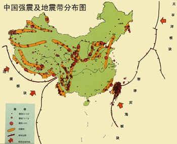 中国地震带的分布