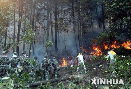 重庆森林大火连烧6座山1500余名官兵紧急灭火