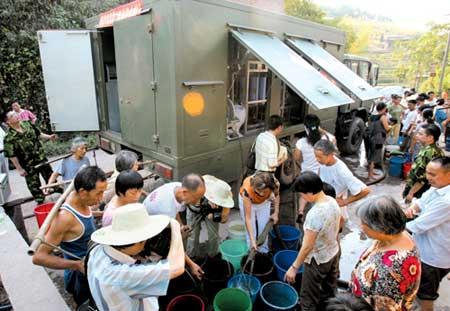 重庆綦江告急市政府决定用火车送水