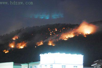 南安市石井镇三乡村昨日发生森林火灾