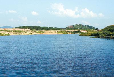 嵊州南山水库风景图片