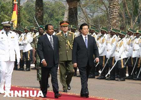 胡锦涛同喀麦隆总统比亚会谈